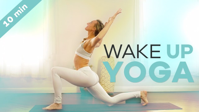 Beginner Morning Yoga - 10-Min - Energizing Wake Up Vinyasa Flow