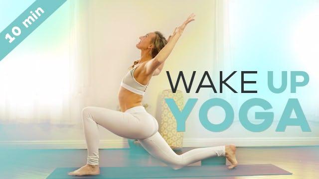 Beginner Morning Yoga - 10-Min - Energizing Wake Up Vinyasa Flow