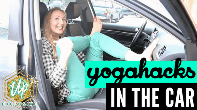 [Members Only] How to Do Yoga in the Car (Yoga while Traveling)