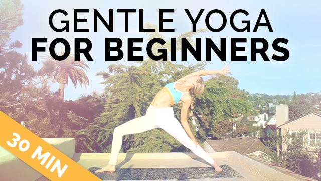 Gentle Yoga for Beginners (30-Min) - .