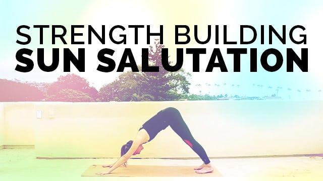 Sun Salutations for Beginners: Surya Namaskar & Chaturanga Dandasana Modification for Core Strength