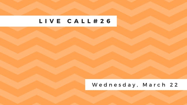 Live Call #26 B 5.6 | Meditation Teac...