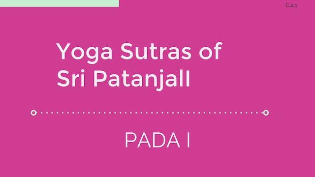 C.4 Yoga Sutras: Pada I