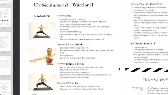 Teaching Virabhadrasana II