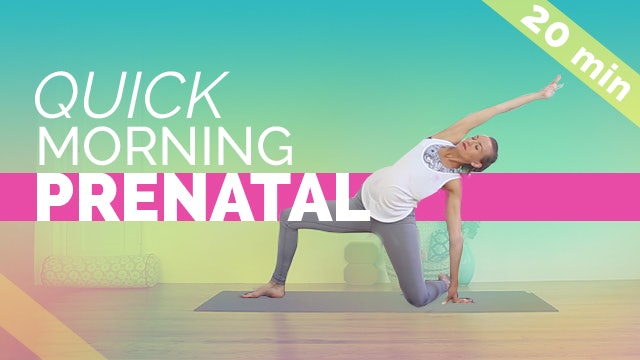 Quick Morning Prenatal Stretch + Squats (20 min)