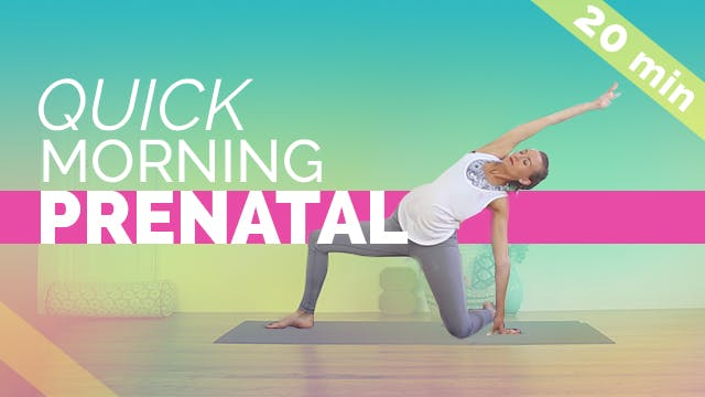Quick Morning Prenatal Stretch + Squa...