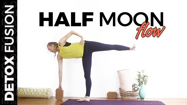 Day 16 - Half Hour Half Moon Sequence | Yoga Balancing Poses (30-Min)