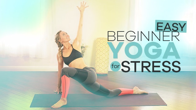 Easy Yoga for Stress - Calm Down in 8 Minutes