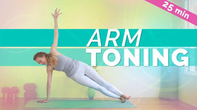 [NEW] Arm & Core Strengthening Yoga (25-min)