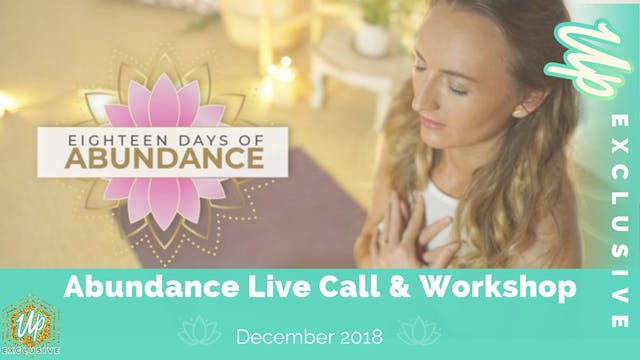Member Only Live Call: Abundance Work...
