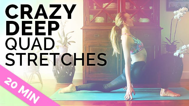 Yoga Stretches for Quads and Hamstrin...
