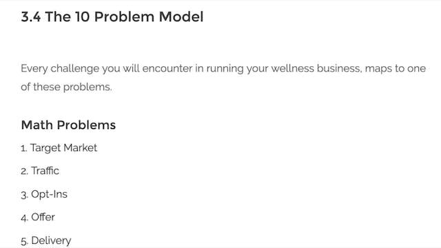 [Mod 2] 3.4The 10 Problem Model