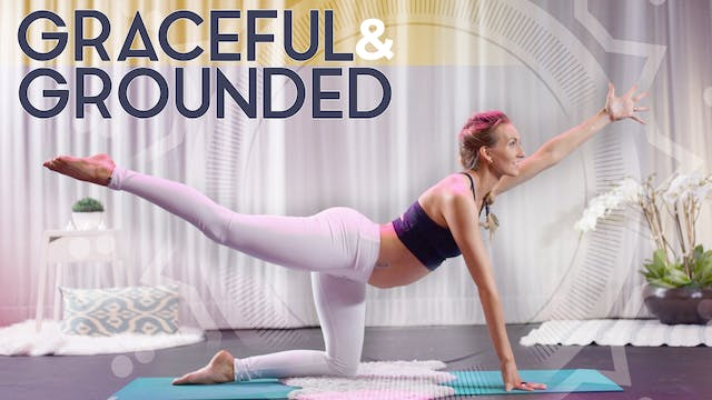 Graceful & Grounded (25 min) - Medium Intensity | Kundalini + Meditation