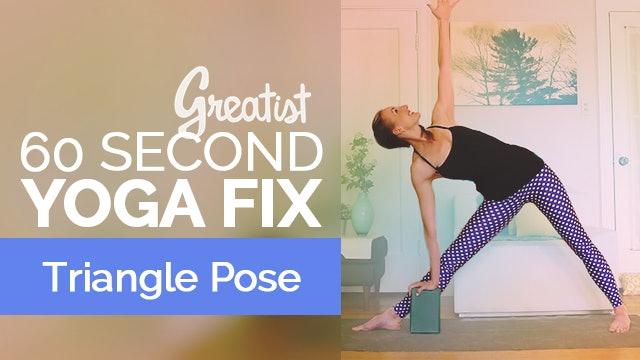 How to Do Triangle Pose   Yoga Alignment   Trikonasana