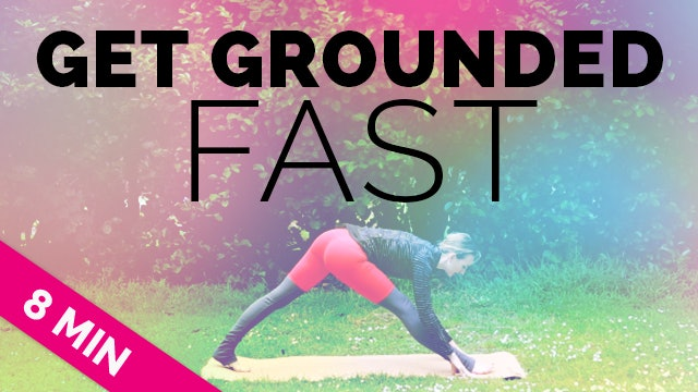 "Anti-Anxiety ""Get Grounded FAST"" Yoga Sequence (8-Min) - ALL LEVELS - Quick Yoga (10 Minute Yoga)"