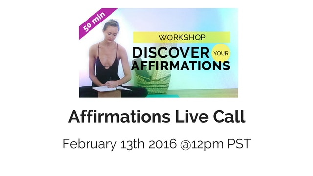 Affirmations & MFR Live Call - Monday...