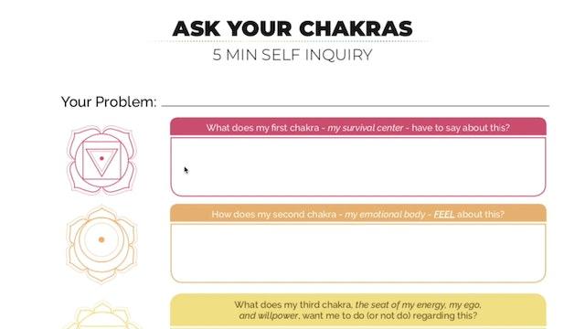 [NEW] Chakra Self Inquiry Journaling