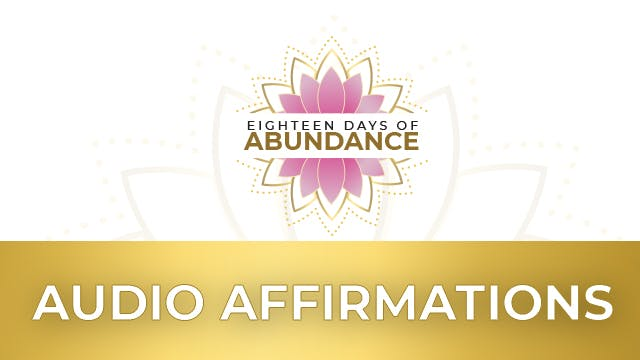 Abundance Affirmation Audio Track