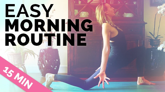 Easy Morning Yoga + Meditation in 15 Min for Before Work - Perfect for Beginners (15 min)