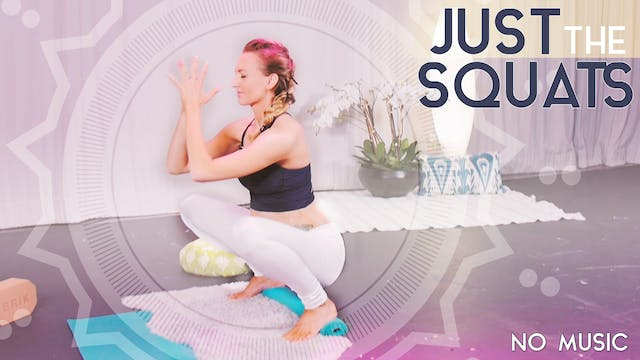 Just the Squats - No Music (5 min) | High Intensity