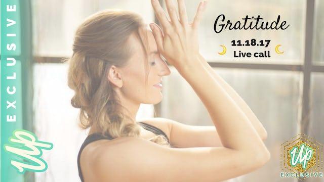[Member Only] Live Call: Gratitude