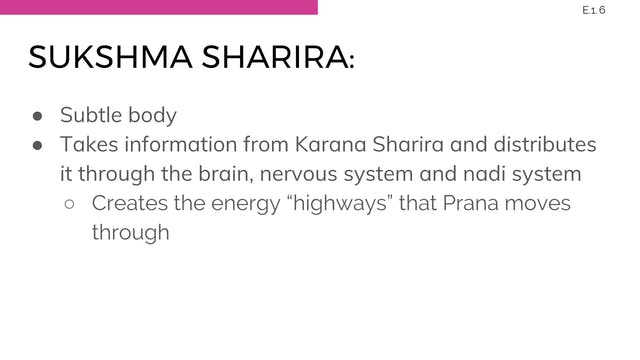 E.9 Chakras & Subtle Body Systems