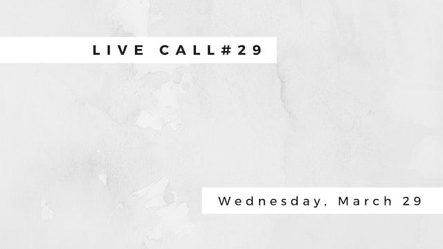 Live Call #29 B 6.1 | B6.2