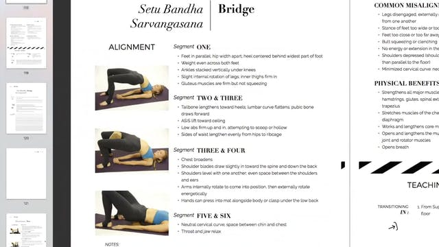 Teaching Setu Bandha Sarvangasana