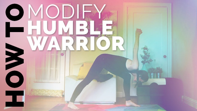 How to Do Humble Warrior: Yoga Modifications for Beginners