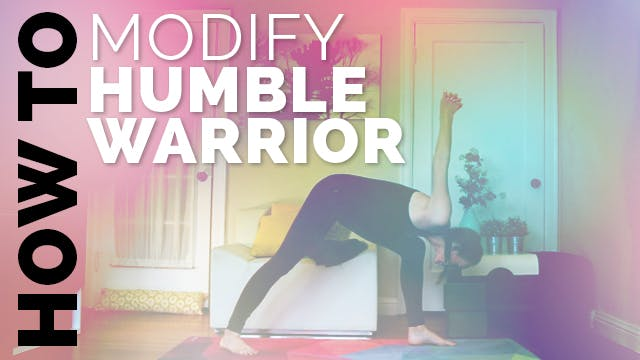 How to Do Humble Warrior: Yoga Modifi...