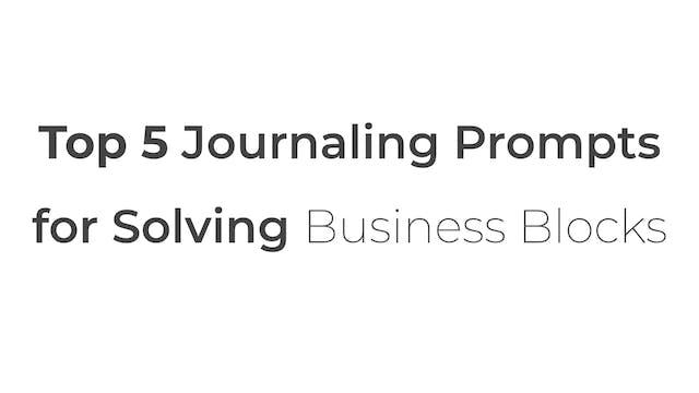[Mod 2] 5.7 Brett's Top 5 Journaling ...