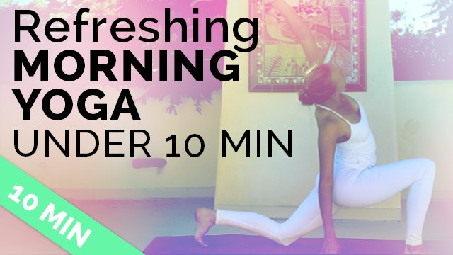Easy Morning Yoga Sequence to Start Your Day Right (under 10 minutes!)