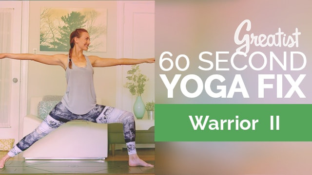 The Right Way to Do Warrior 2 (in just 60 Seconds)   Virabhadrasana 2