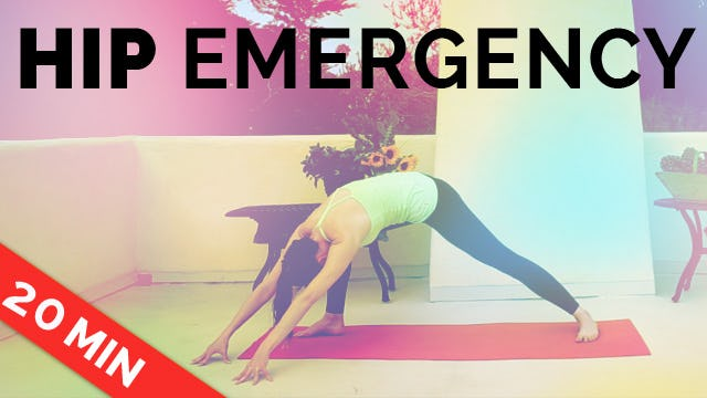 Hip Emergency - Yoga for Hip Pain - Hip Stretches
