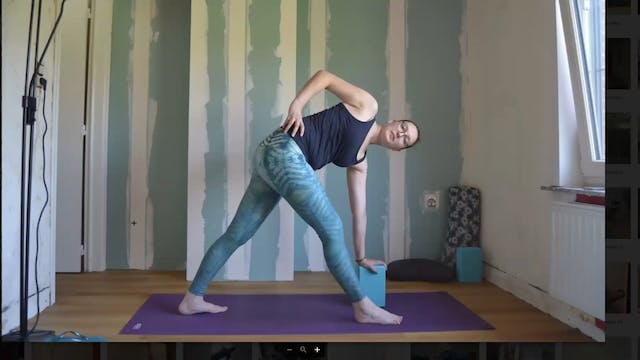 Teaching Parivritta Trikonasana