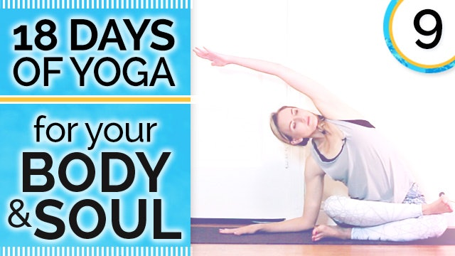 Day 9 DOUBLE PIGEON - Deep Extreme Seated Hip Opening - 18 Days of Yoga for Your Body & Soul