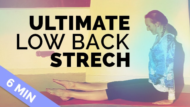 Yoga for Low Back Pain - Quick Stretch (6 minutes) - Yin Style Low Back Stretch