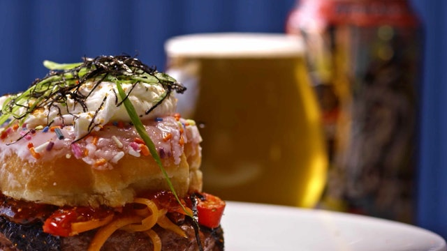 Burgers and Beers: Ninja vs. Unicorn (Pipeworks Brewing)