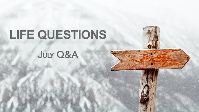 Q&A with Graham (July)