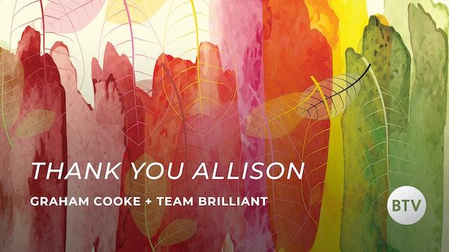 Farewell Allison.