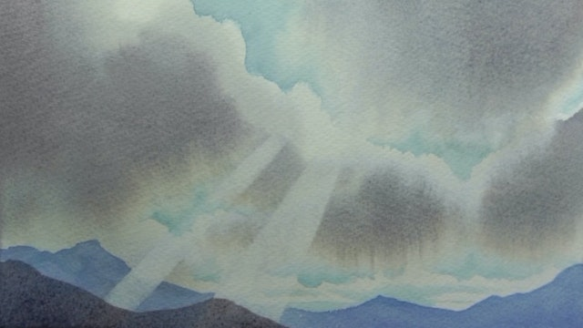 Woolley's Watercolour - Paint A Sky A Day