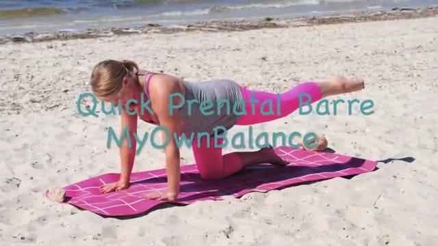 Bump at the Barre- Quick Prenatal Barre Workout