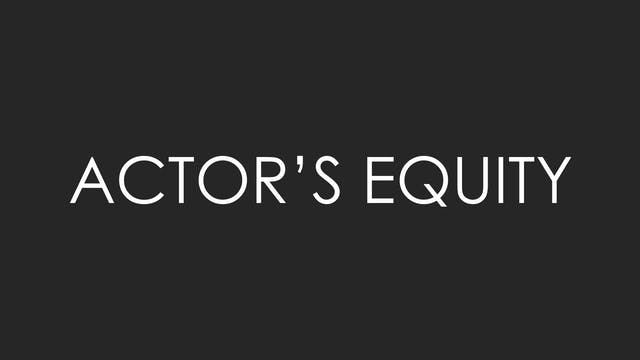 On Actor's Equity
