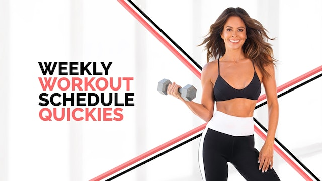 Weekly Workout Quickies (July 19 - July 25, 2021)