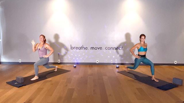 Double Team - Sweat Yoga - Booty Challenge - w/ Brooke and Layna