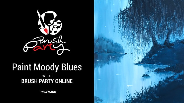 Paint Moody Blues with Brush Party Online