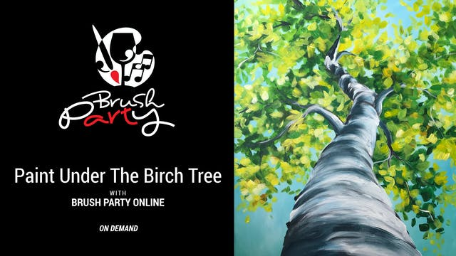 Paint Under the Birch Tree with Brush...