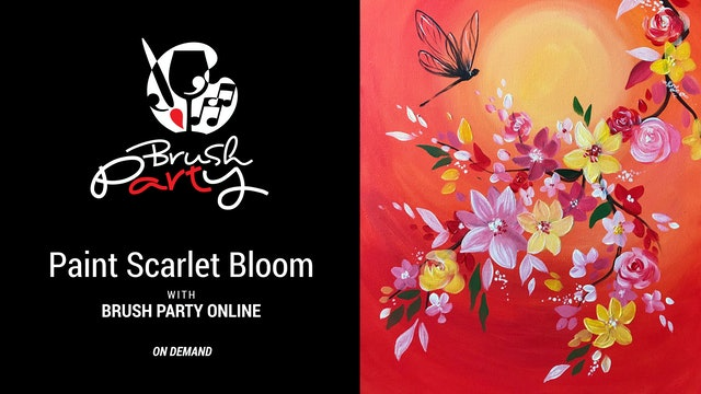 Paint Scarlet Bloom with Brush Party Online