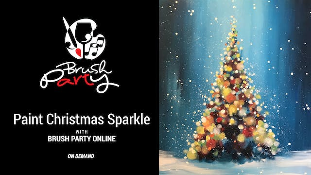 Paint Christmas Sparkle with Brush Pa...