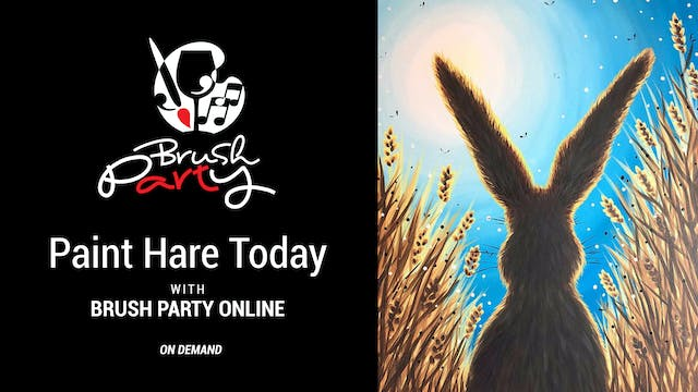 Paint Hare Today with Brush Party Online